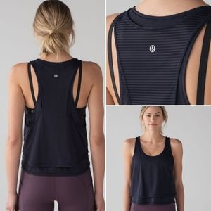 Lululemon lean in crop tank top